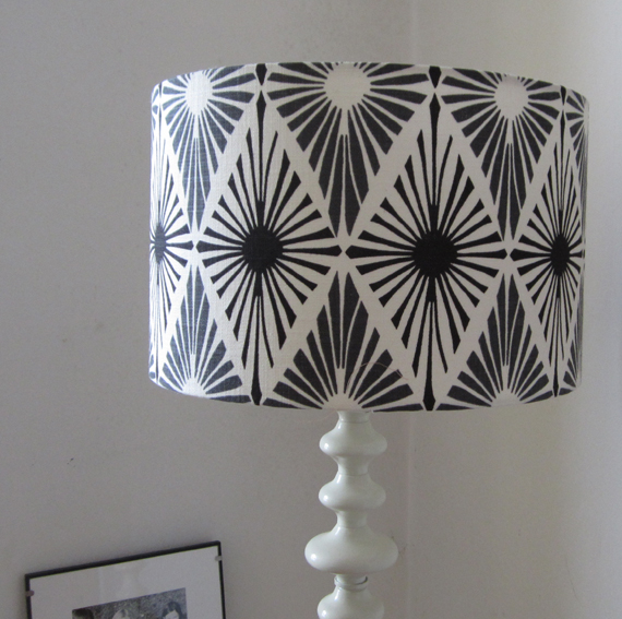 Black And White Monochrome Design Large Lampshade