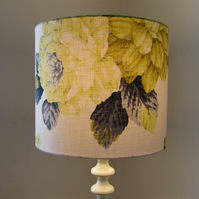 Lampshade - Yellow, Lime and Grey Floral Design
