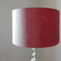Coral and White Lampshade In Double Aura Design
