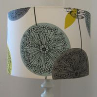 Large Lampshade - Teal, Yellow & Grey  Polesia Design