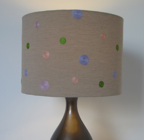 Pastel Coloured Spots Lampshade.
