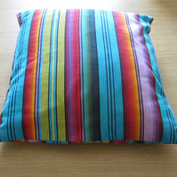 Bright Striped Cotton Cushion Cover