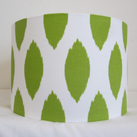 Lampshade With Bright Green Oval Spots On White 35cm Diameter