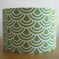 Geometric Design, Green Lampshade
