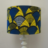 Bright Lampshade - Blue & Yellow Batik