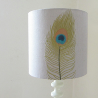 25cm Lampshade - Peacock Feather Design