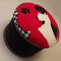 Westie Scottie Cotton Reel Pin Cushion