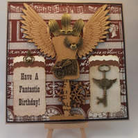 Steampunk Have A Fantastic Birthday card
