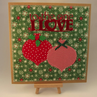 To The One I Love Fabric Christmas card