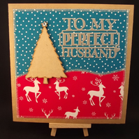 To My Perfect Husband Fabric Christmas card