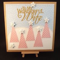 My Wonderful Wife Fabric Christmas card