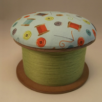 Needle and Thread Cotton Reel Pin Cushion