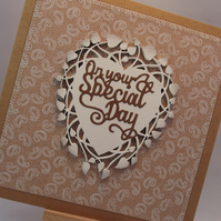 On Your Special Day Wedding Day Fabric card