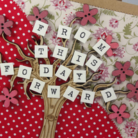 From This Day Forward Wedding Day Fabric Card