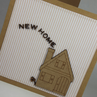 New Home Fabric Greetings Card