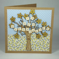 To Our Goddaughter Christening Day Fabric Greetings Card