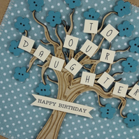Happy Birthday To Our Daughter Fabric Greetings Card