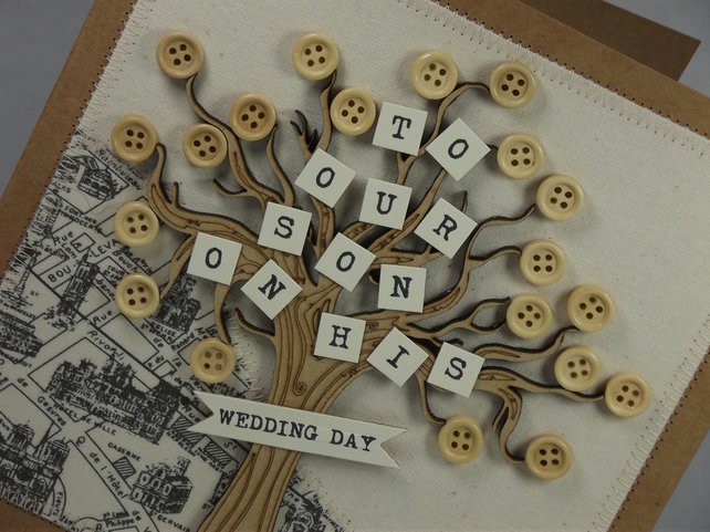 To Our Son On His Wedding Day Greetings Card