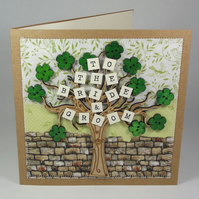 To The Bride & Groom Wedding Day Fabric Card