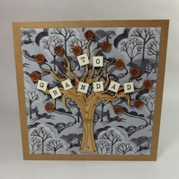 To Grandad Fabric Greetings Card