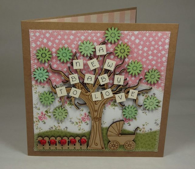 A New Baby To Love Fabric Card