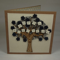 Happy Birthday Fabric Greeting Card