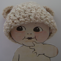Baby hat bear ( newborn or photoprop). RESERVED