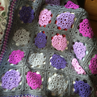 Crochet Granny Square Maybelle Blanket