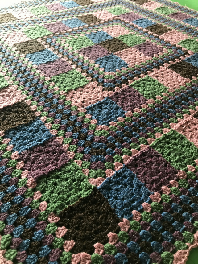 Crochet patchwork style blanket