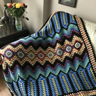 Crochet Bright Modern Blanket