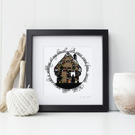 Hansel and Gretel Square Fairytale Print