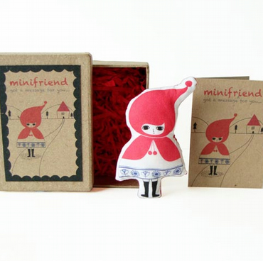 Cotton Message Doll - Minifriend Red Riding Hood