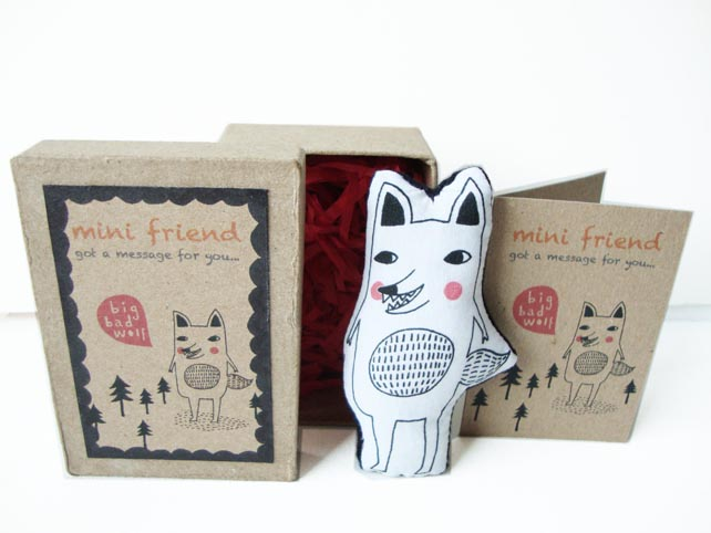 cute gift idea for a friend - message doll by kekekaka