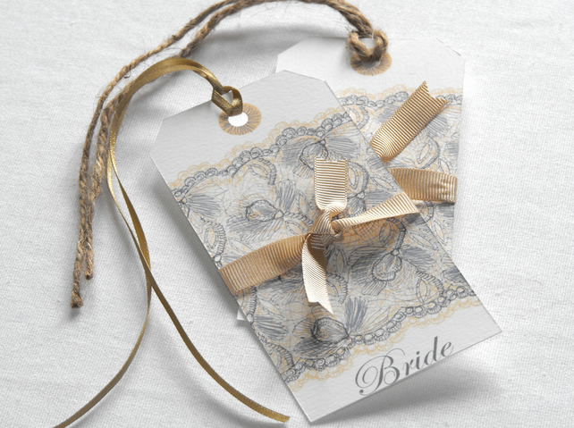 Place Card Tags, Antique Lace