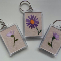 Embroidered Vintage Fabric Keyring