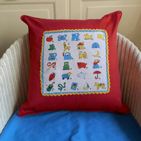 Alphabet and Sums Cushion