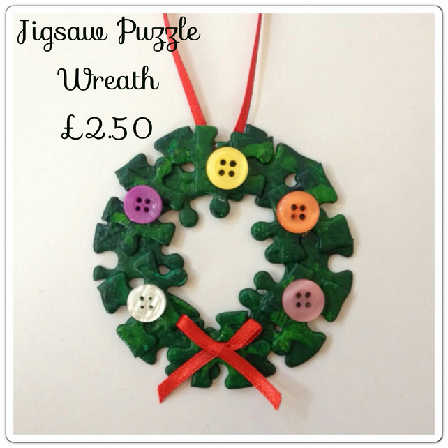 Jigsaw Wreath