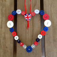 Button Heart Hanger