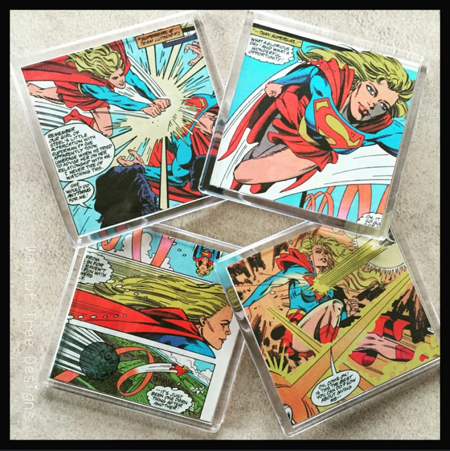 Supergirl Comic Book Coasters