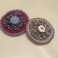 2 Liberty Print Brooches