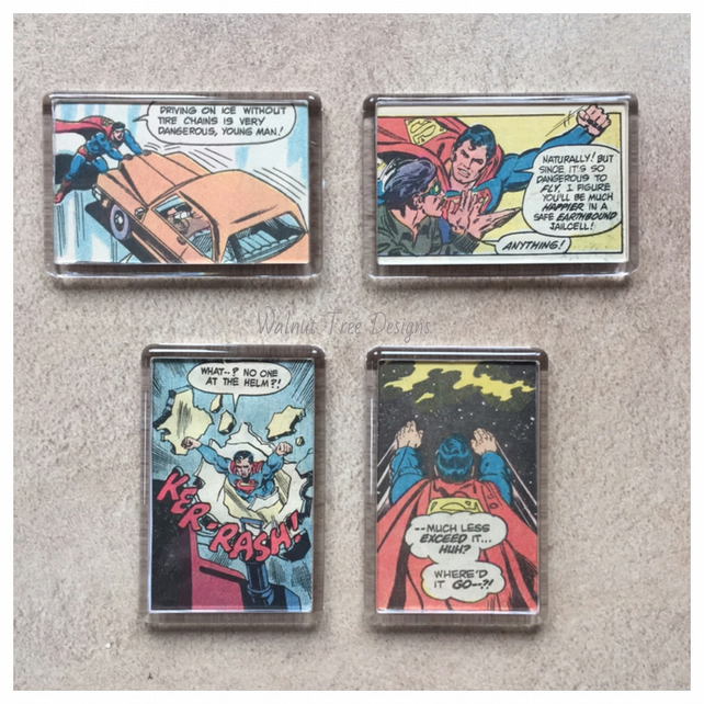 Vintage Superman Fridge Magnet