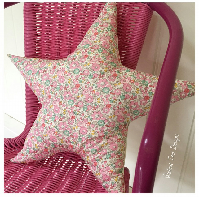 Liberty Print Star Cushion