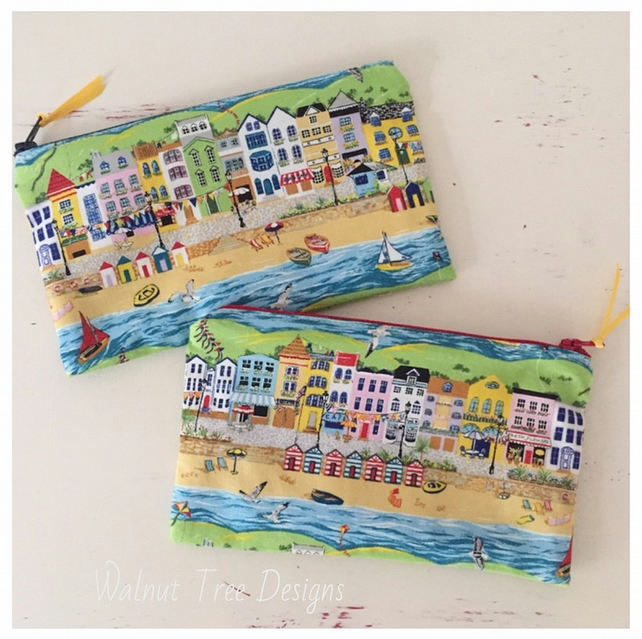 Seaside Panorama Zipped Bag