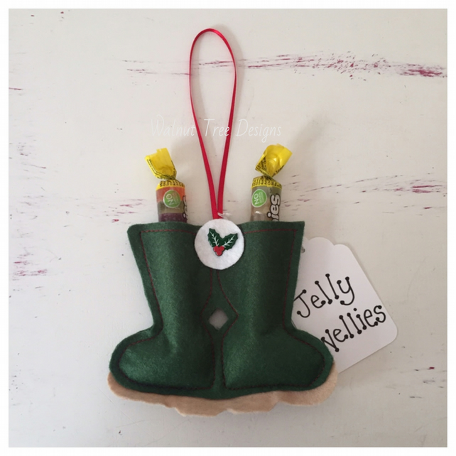 Jelly Wellies Christmas Tree decoration