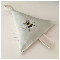 Lavender Bee Tree Decoration -Sophie Allport fabric