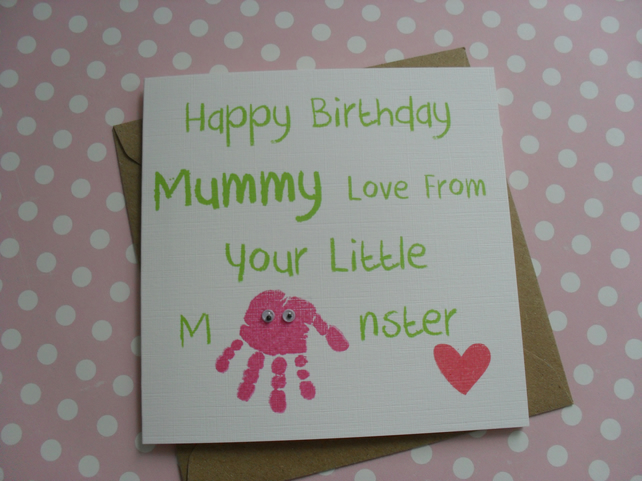 Pink Monster Card