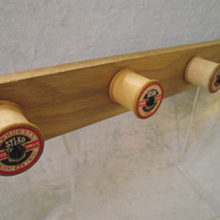 Vintage Sylko cotton reel hanging rack