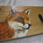 Handpainted original design fox coat hooks rack