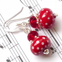 Lampwork earrings - Scarlett
