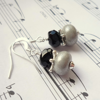 Lampwork earrings - Stardust